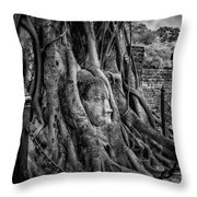 Buddha Head Ayutthaya Throw Pillow