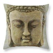 Buddha Head Throw Pillow by M Montoya Alicea