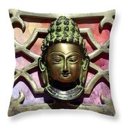 Buddha - Heavy Metal Throw Pillow