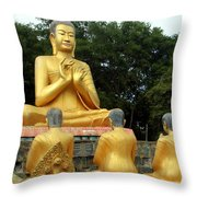 Buddha In Cambodia Throw Pillow