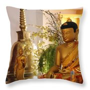 Buddha In India Throw Pillow