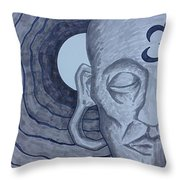 Buddha In Ink Throw Pillow