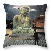 Buddha In Saturn Throw Pillow