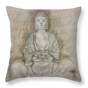 Buddha In The End Quote Throw Pillow