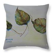 Buddha Leaf 1 Throw Pillow