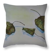 Buddha Leaf 2 Throw Pillow