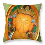 Buddha Mirror Throw Pillow