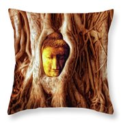 Buddha Of The Banyan Tree Throw Pillow