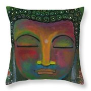 Buddha Painting Throw Pillow