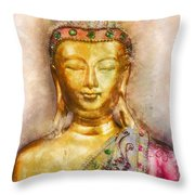 Buddha Peace Love And Light Throw Pillow