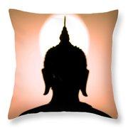 Buddha Silhouette Throw Pillow