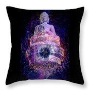 Buddha Spinning In A Merkaba Throw Pillow