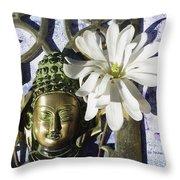 Buddha - Spring Throw Pillow