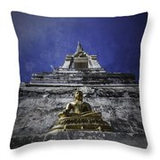 Buddha Watching Over Throw Pillow