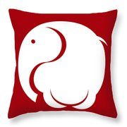Buddhaphant Throw Pillow