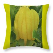 Buddha's Hand Throw Pillow