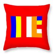 Buddhism Flag Throw Pillow