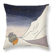 Buddhist Cleric Nichiren And Bleak Winter In Exile Throw Pillow
