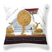 Buddhist Dharma Wheel Throw Pillow