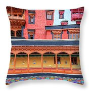 Buddhist Monastery Building Throw Pillow