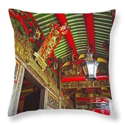 Nord Hoi Temple Ceiling Throw Pillow