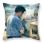 Buddhist Way Of Praying Throw Pillow