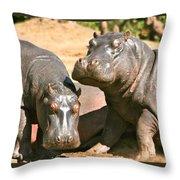Buddies Throw Pillow