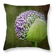 Budding Allium Throw Pillow