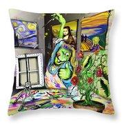 Budding Artist Throw Pillow