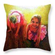 Budding Ballerinas Throw Pillow