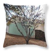 Budding Fruit Tree Throw Pillow