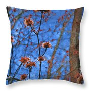 Budding Maples Throw Pillow