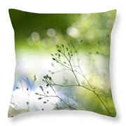 Budding Plant Throw Pillow