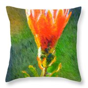 Budding Protea Throw Pillow