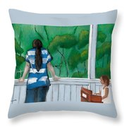 Buddy And Ella Throw Pillow