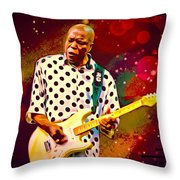 Buddy Guy Portrait Throw Pillow