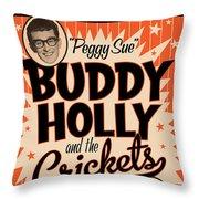 Buddy Holly Throw Pillow