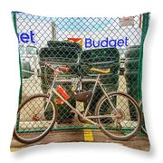 Budget Bicycle Throw Pillow