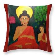 Budha Blessing Throw Pillow