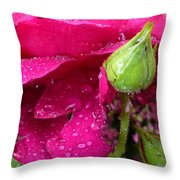 Buds And Drops Throw Pillow