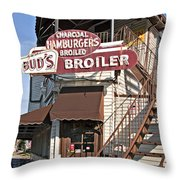 Bud's Broiler New Orleans Throw Pillow