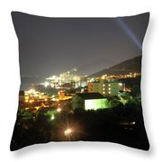 Budva At Night, Montenegro Throw Pillow
