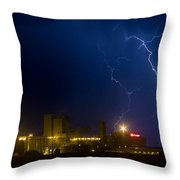 Budweiser Beer Brewery Storm Throw Pillow