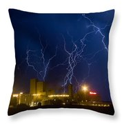 Budweiser  Brewery Storm Throw Pillow
