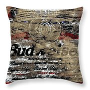 Budweiser Wood Art 5c Throw Pillow