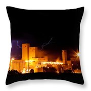 Budwesier Brewery Lightning Thunderstorm Image 3918 Throw Pillow