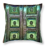 Buenos Aires Church Crypt Door Throw Pillow