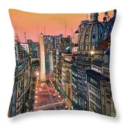 Buenos Aires Twilight Throw Pillow