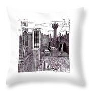 Buenos Aires Year 2065 Throw Pillow