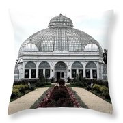 Buffalo And Erie County Botanical Gardens Ink Sketch Effect Throw Pillow